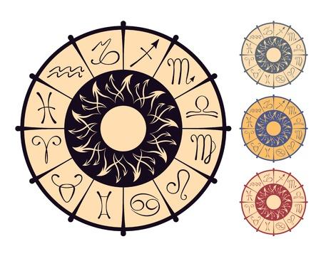 Vector zodiacal circle Vector