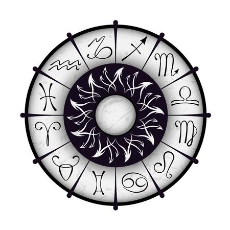 capricornio: Vector c�rculo zodiacal