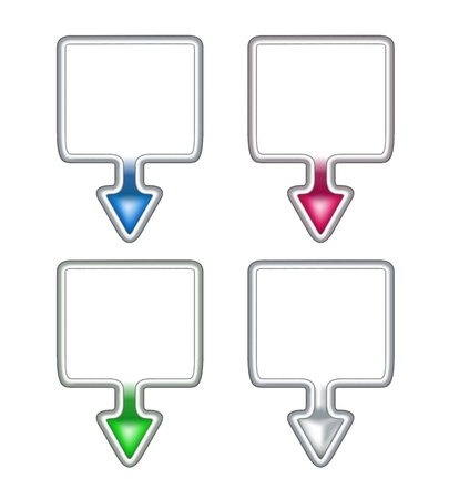 Set of template pointers Stock Vector - 15057400