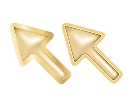 Golden cursors Stock Vector - 15057395