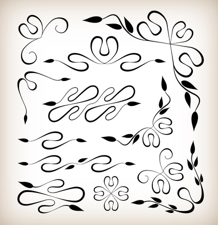 Set of art deco design elements Vector