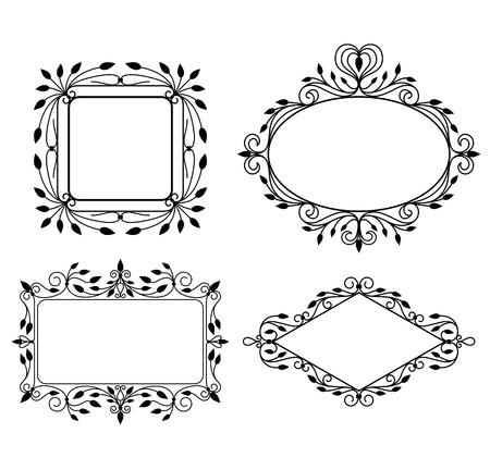 photo frame corner: Vintage graphic frames Illustration