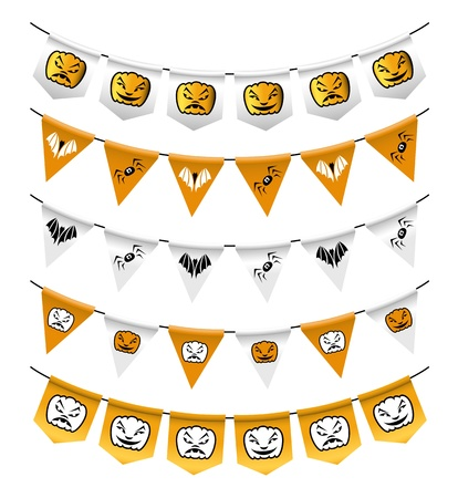 Halloween bunting Stock Vector - 15479050