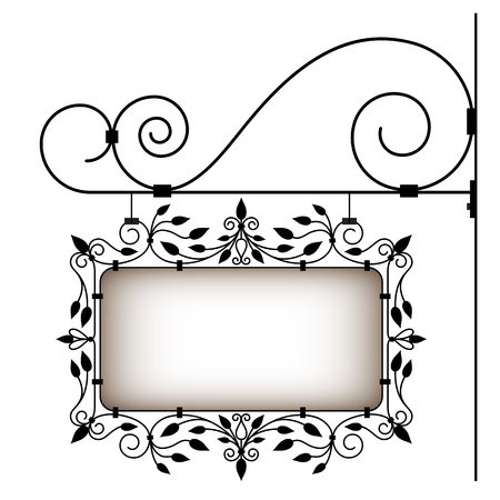 Retro uithangbord Vector Illustratie
