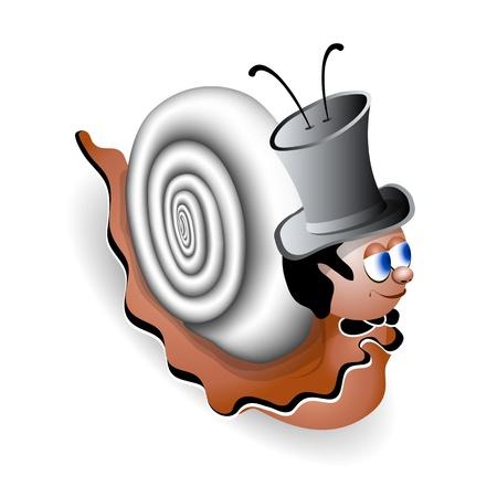 Cartoon snail Stock Vector - 15479047