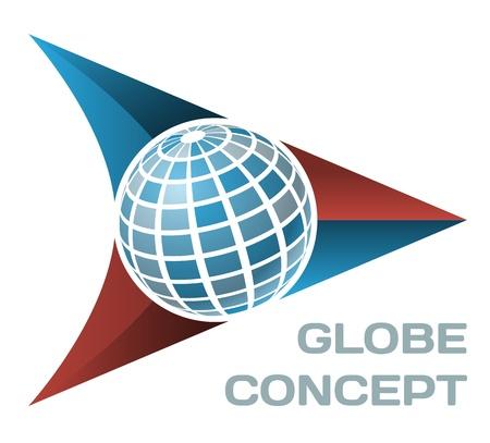 Globe concept  イラスト・ベクター素材