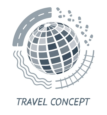 Travel concept  イラスト・ベクター素材