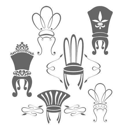 Vintage furniture symbols