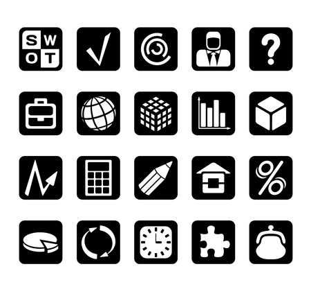 Business and financial icons Illustration