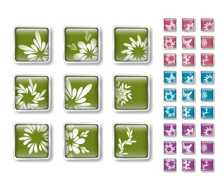 Floral icons Stock Vector - 15829408