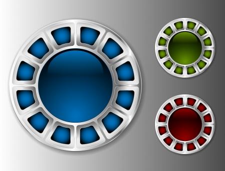 Metallic buttons Stock Vector - 15829385