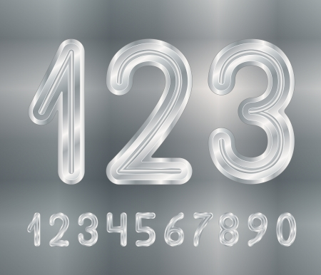 Metallic numbers Stock Vector - 15829398