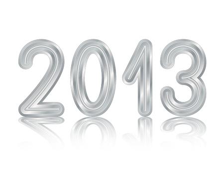 Metallic 2013 design Stock Vector - 15829386