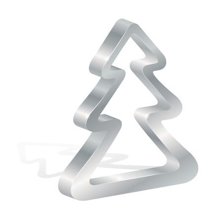 Isolated metal Christmas tree Stock Vector - 15829401