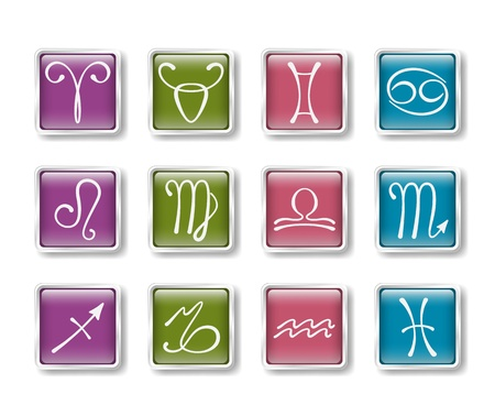zodiacal: Zodiacal icons Illustration
