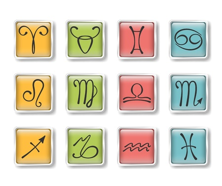 Zodiacal icons Stock Vector - 15829400