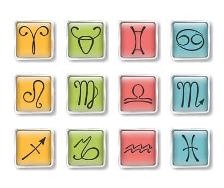 Zodiacal icons Stock Vector - 15829400