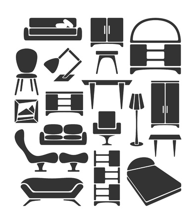 Graphical furniture set Vector