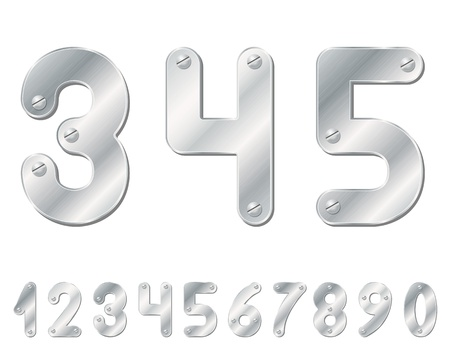 Metallic numbers Stock Vector - 16022427