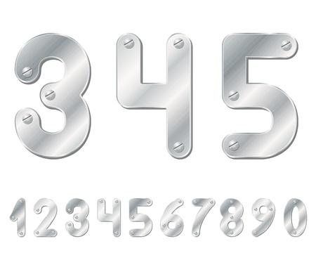 számok: Metallic számok