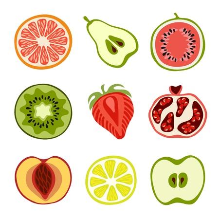 복숭아: 손으로 그린 과일 일러스트