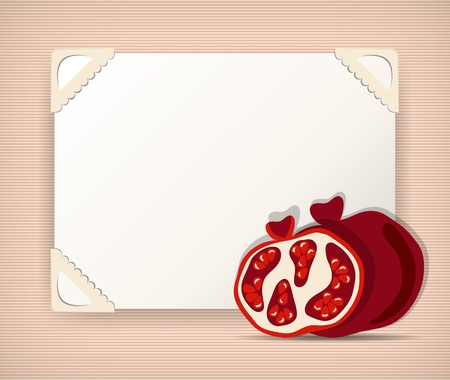 Background with pomegranates Vector
