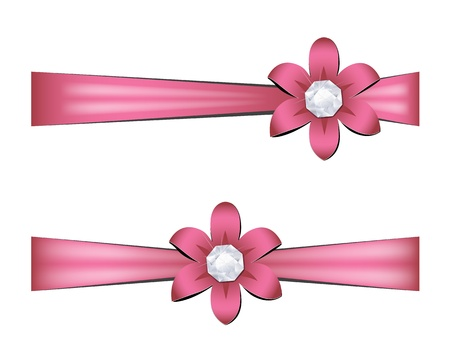 pink satin: Gift ribbons