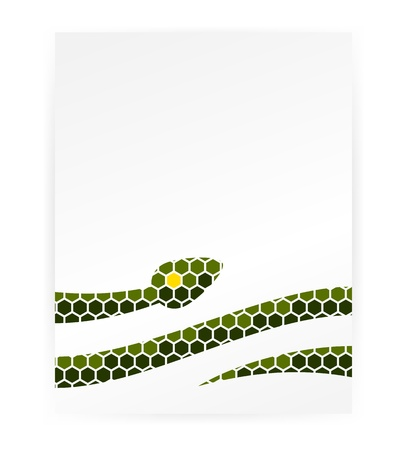 Graphic snake background Vector
