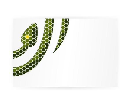 Graphic snake background Stock Vector - 16270729