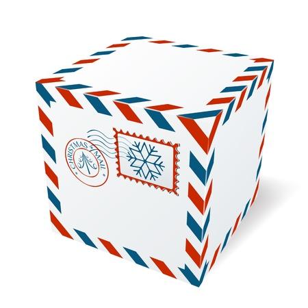boite carton: Bo�te en carton de No�l