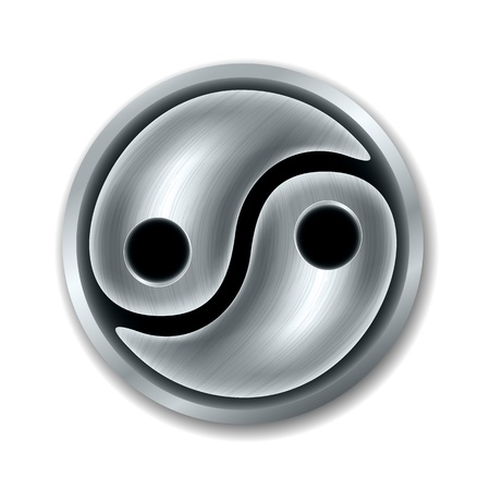 karma design: Yin Yang symbol Illustration