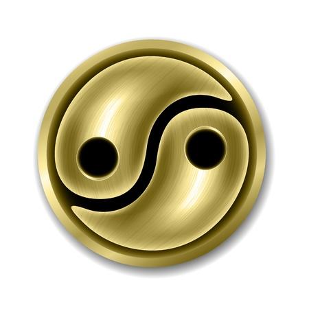 good karma: Yin Yang symbol Illustration