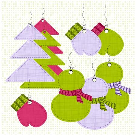 sewed: Christmas labels set