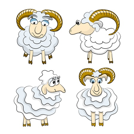 Cartoon isolated sheep Stock Vector - 16563761