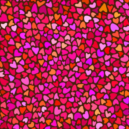 Seamless hand drawn pattern with hearts Vector