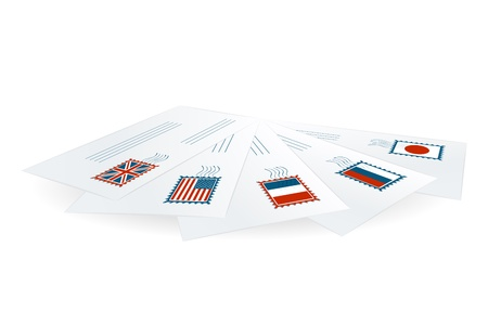 addressee: International correspondence Illustration