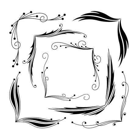 graphical: Set of decorative graphical corners Illustration
