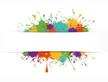 Bright painted background Vector