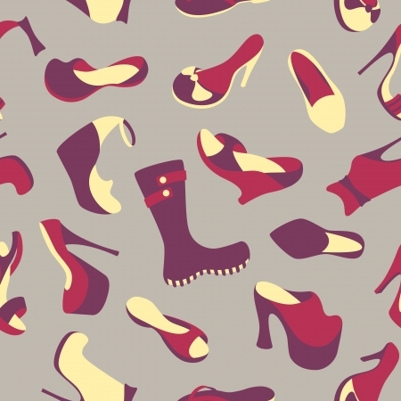 Footwear seamless pattern Vector