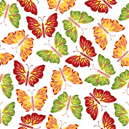 Seamless pattern with decorative butterflies Stock Vector - 16956214