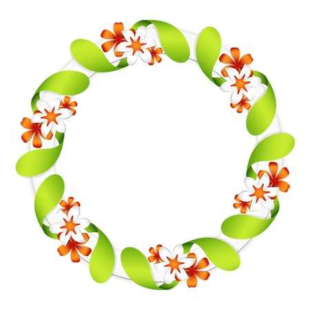 Floral garland, isolated on white Vector