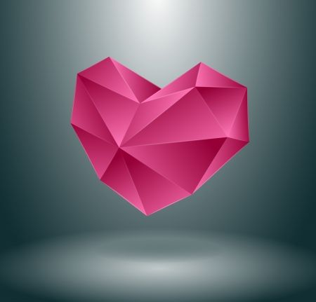 Heart concept design, maybe used as isolated or with background Vector