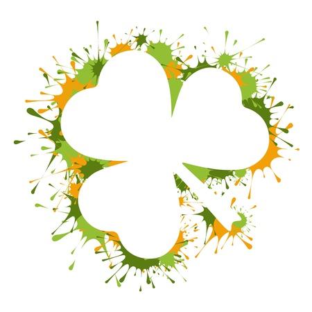 clover banner: St  Patrick Day frame