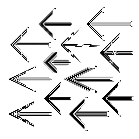 graphical: Set of graphical vintage arrows