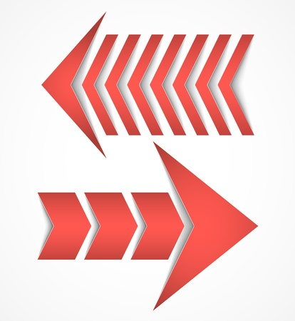 Two arrows concepts Stock Vector - 17279098