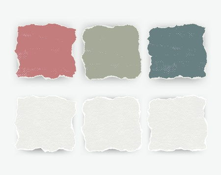 tipografia: conjunto de piezas aisladas papel rasgado pared rota