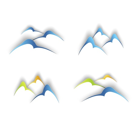 ski resort: Mountains signs