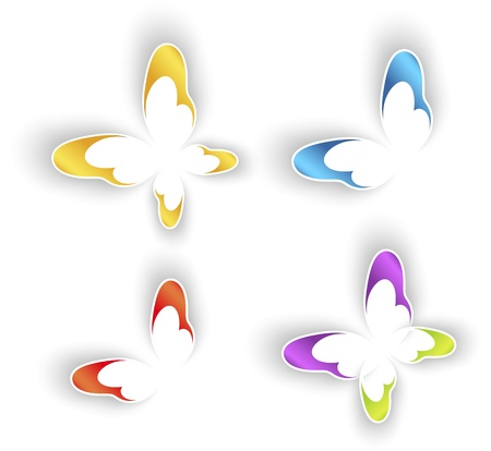 Butterfly signs Vector