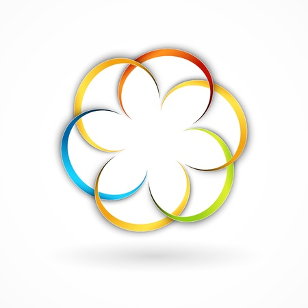 rainbow sphere: Abstract floral design element