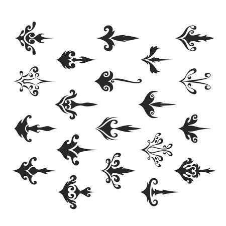 ensemble de flèches décoratives Vecteurs